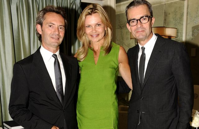 NEW YORK, NY - JUNE 26: (L-R) Peter Kriemler, Melissa Beste and Albert Kriemler attend Akris Book Signing and Cocktails at BG Restaurant at Bergdorf Goodman on June 26, 2012 in New York City. (Photo by Clint Spaulding/Patrick McMullan via Getty Images)