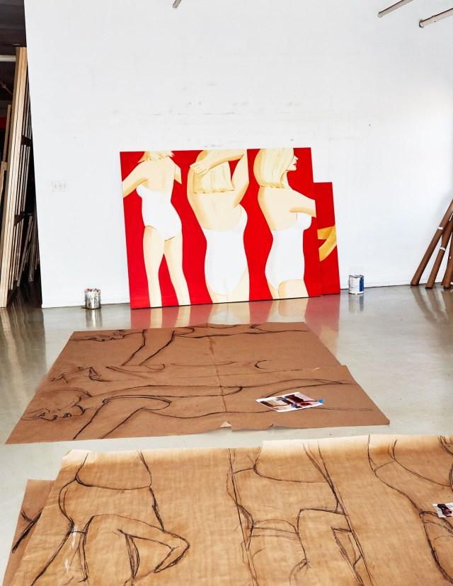 Ephemera from Katz's studio practice.