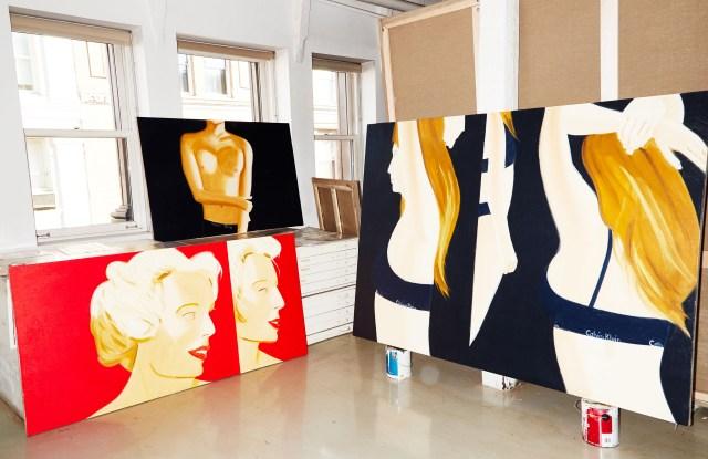 Katz's new series featuring models in cotton underwear by Calvin Klein.