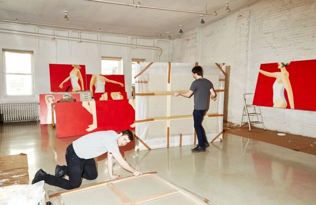 Studio assistants archive new works by Alex Katz.