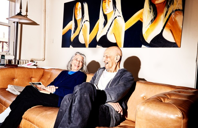 Alex Katz and his wife Ada, a frequent muse in his work, at home together.