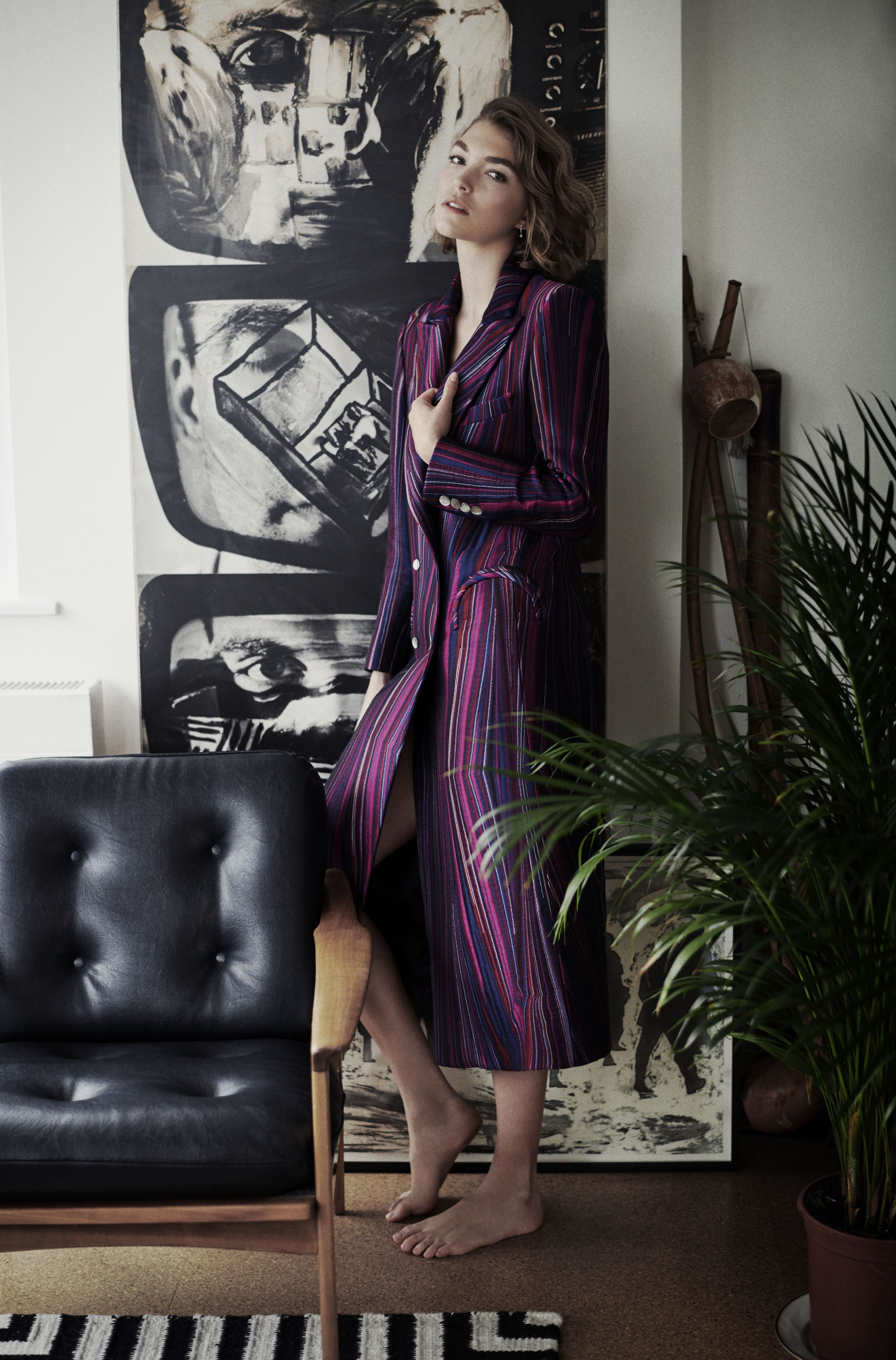 Arizona Muse in one of her designs for Blazé Milano.