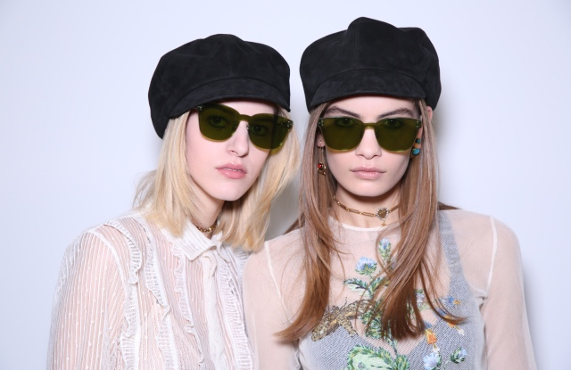 Backstage at Dior RTW Fall 2018