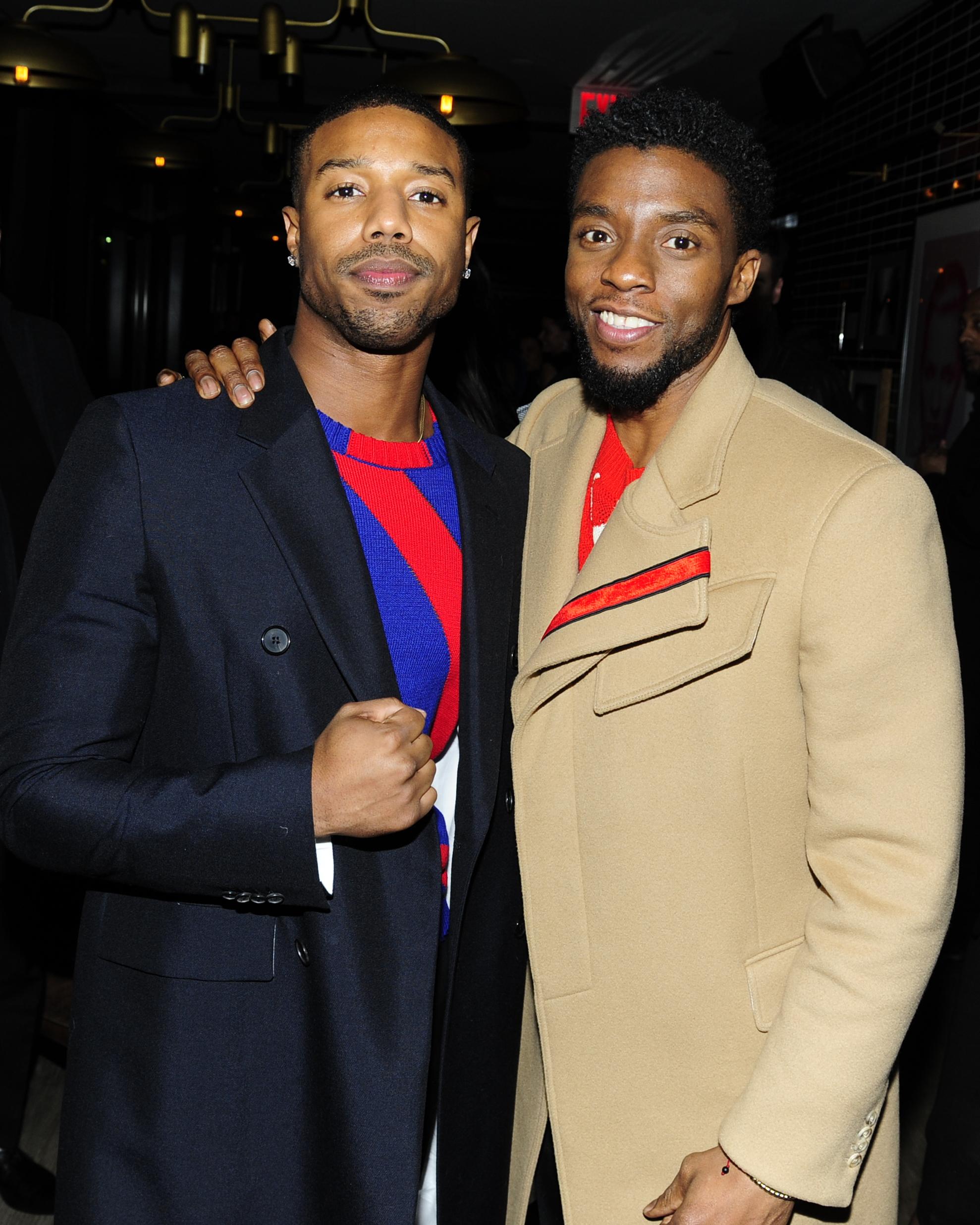 Michael B. Jordan and Chadwick Boseman