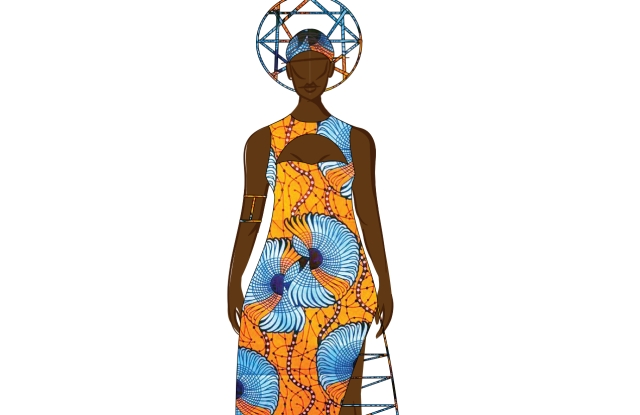 "Chromat's sketch for the ""Black Panther"" event that features one of its designers, Tolu Aremu, whose designs draw from her Nigerian heritage."