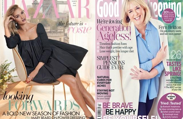 The covers of Harper's Bazaar UK and Good Housekeeping UK