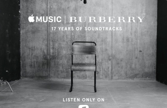 """A visual of Burberry's """"17 Years of Soundtracks"""""""