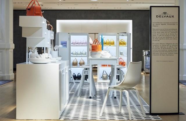 Delvaux's kitchen-themed pop-up at Le Bon Marché.