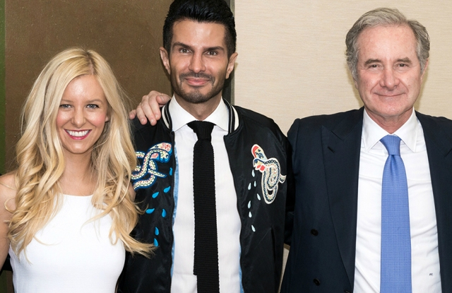 Deciem co-ceo Nicola Kilner, founder Brandon Truaxe and Estée Lauder ceo Fabrizio Freda after Lauder invested in the business in 2017.