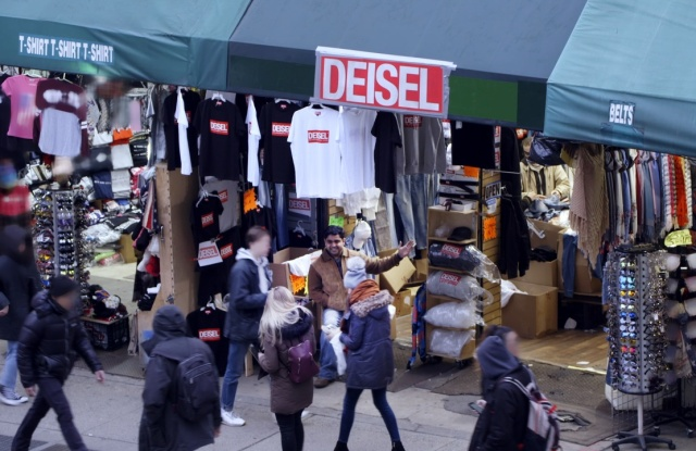 Deisel's authentic knock-off store on Canal Street.