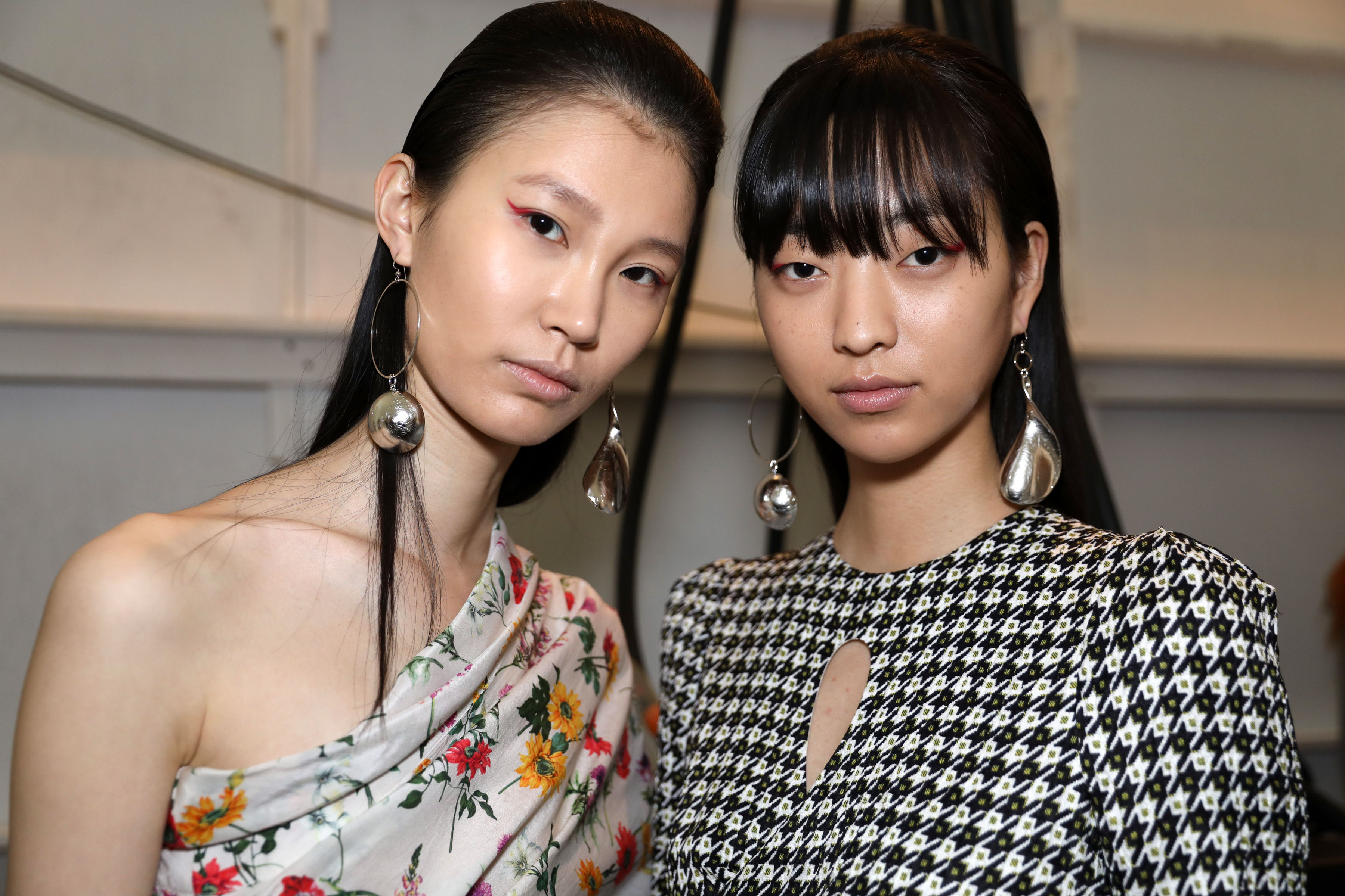 Backstage at Hellessy RTW Fall 2018