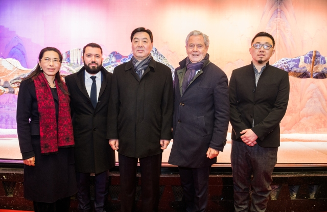 Chen Chunmei, Alexandre Liot, Zhai Jun, Philippe Houzé, Chi Peng celebrated artwork displays at Galeries Lafayette