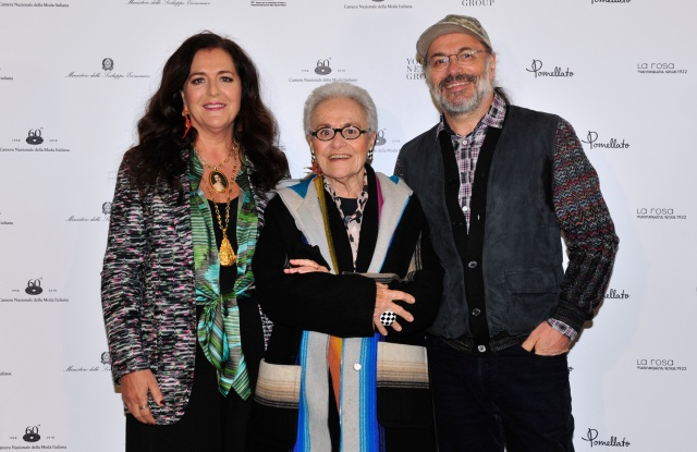 Angela Missoni, Rosita Missoni and Luca Missoni
