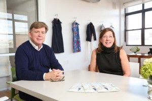 Kevin McLaughlin and Mary Ellen Coyne at the Greenpoint, Brooklyn headquarters.