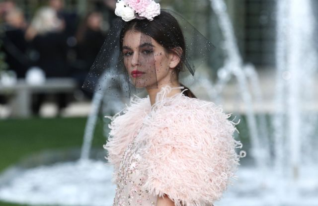 Kaia Gerber at the Chanel Couture Spring 2018 show