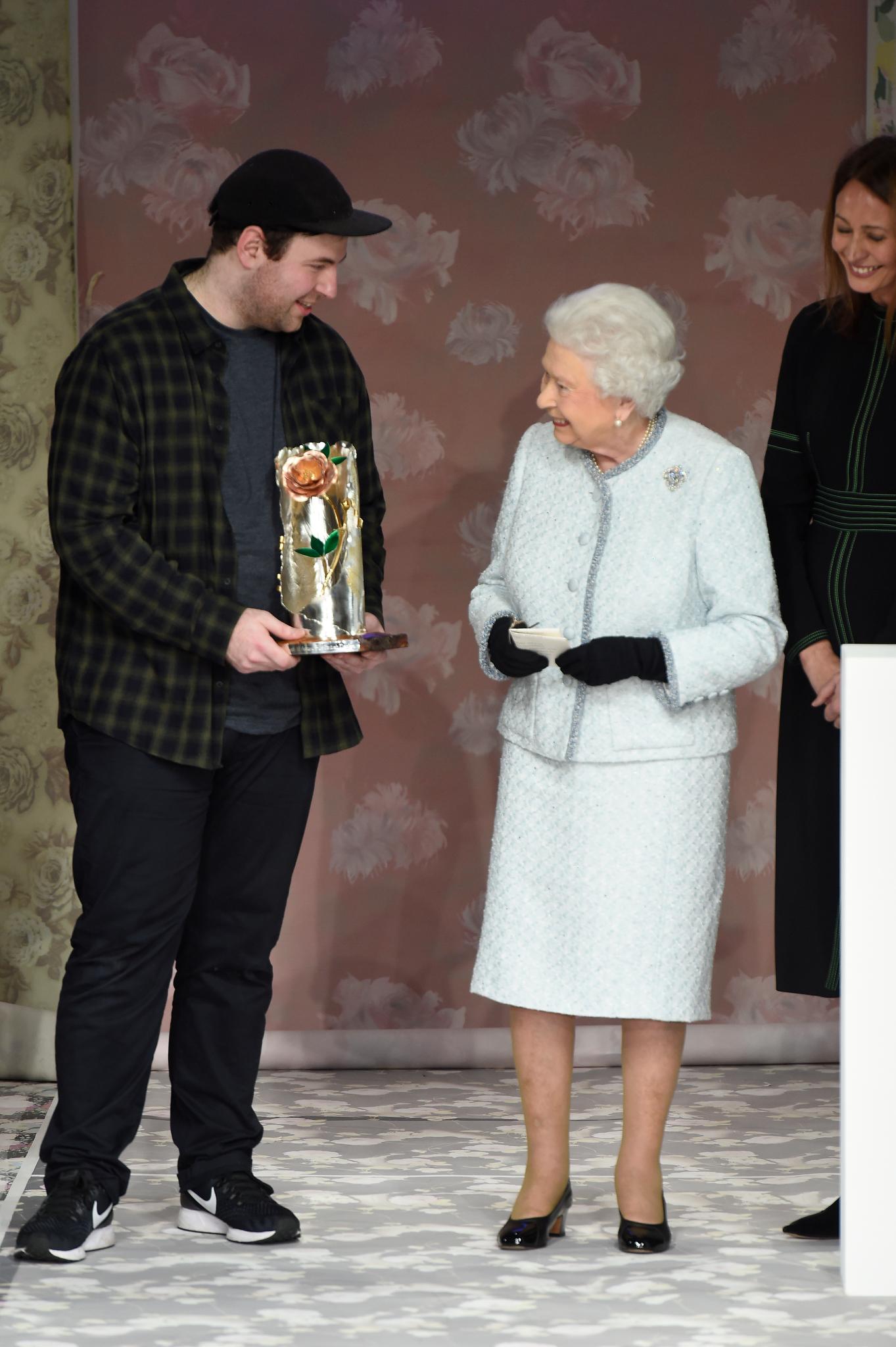 Richard Quinn and Queen Elizabeth
