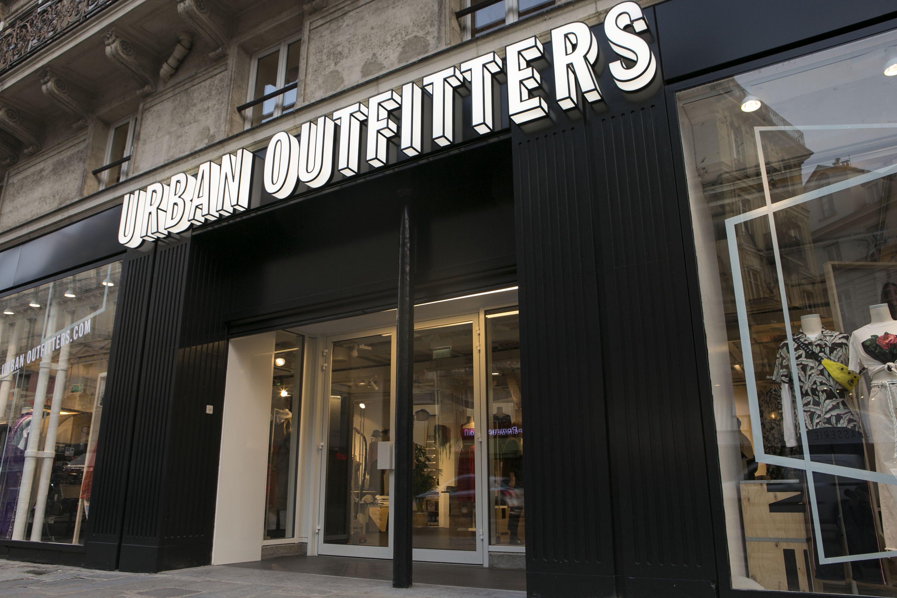 The Urban Outfitters Paris store.