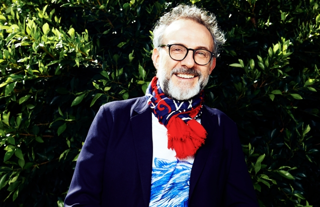 Massimo Bottura outside Gucci Showroom Beverly Hills, California