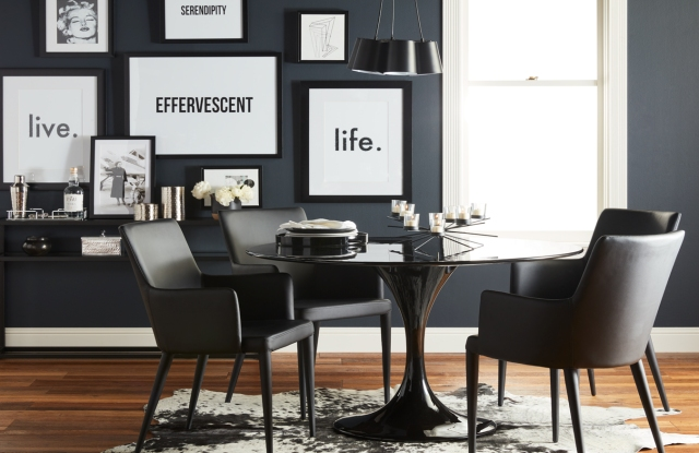 A modern dining room from Walmart.