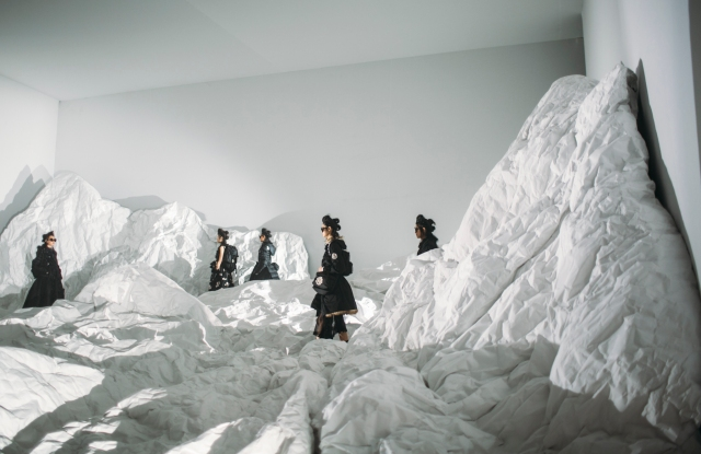 Backstage at Moncler Genius Collection RTW Fall 2018