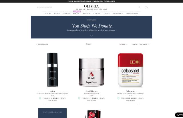 Olivela's beauty page.