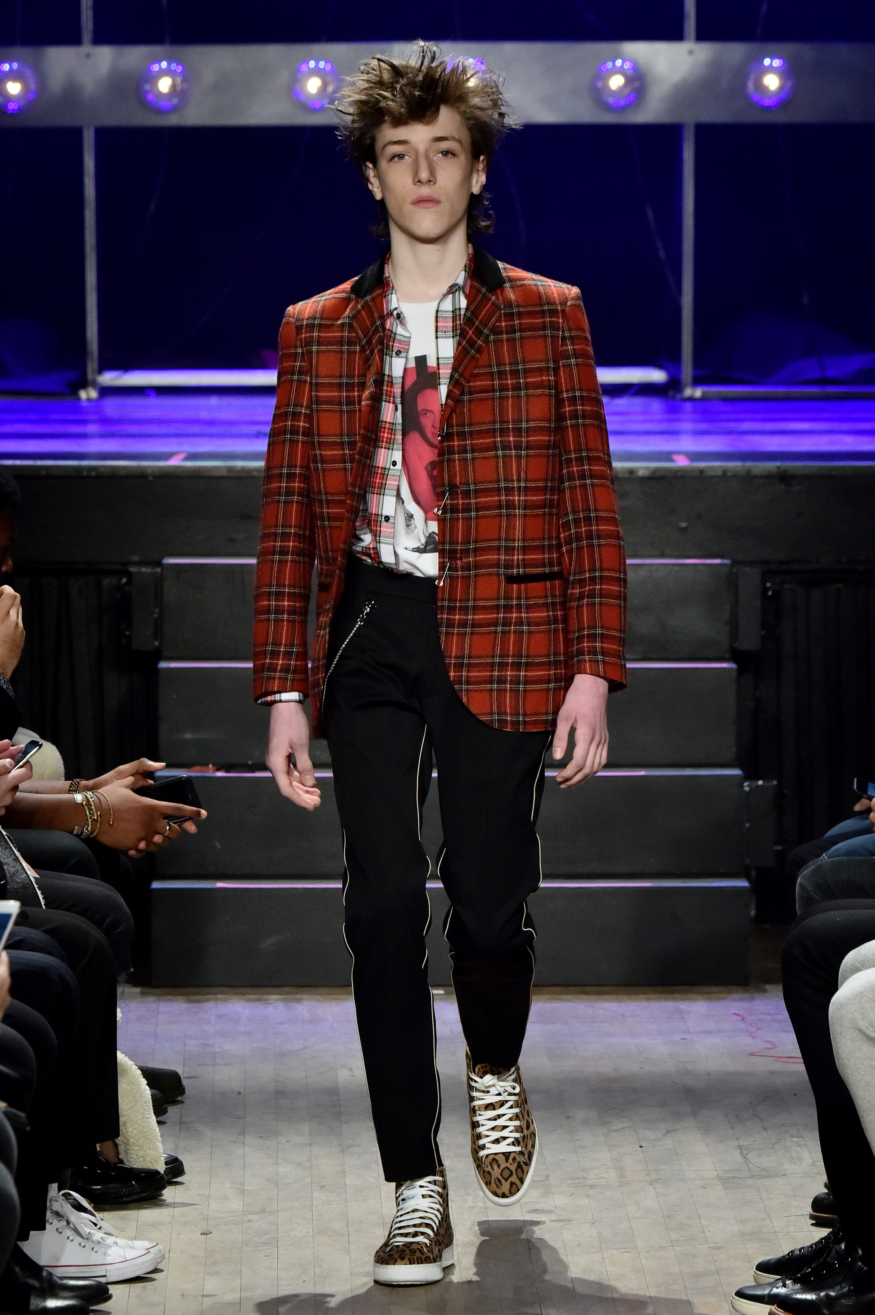 Model on the catwalkOvadia & Sons show, Runway, Fall Winter 2018, New York Fashion Week Men's, USA - 05 Feb 2018