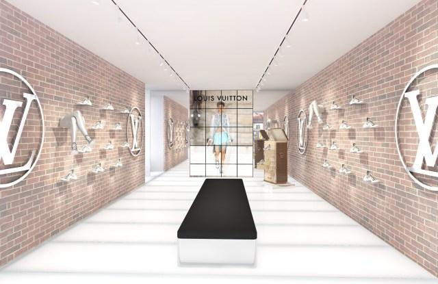 Louis Vuitton's Archlight sneaker pop-up in SoHo.