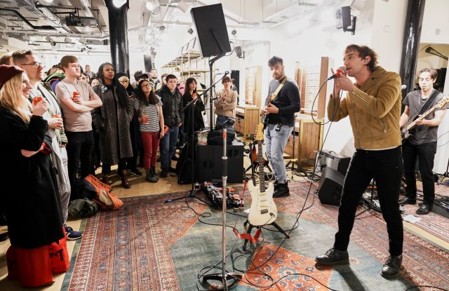 Albert Hammond Jr. performs intimate set at the Beak Street Rag & Bone store