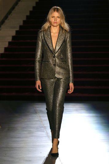 Model on the catwalk Rachel Zoe Fall 2018 Collection Presentation, Runway, Los Angeles, USA - 05 Feb 2018