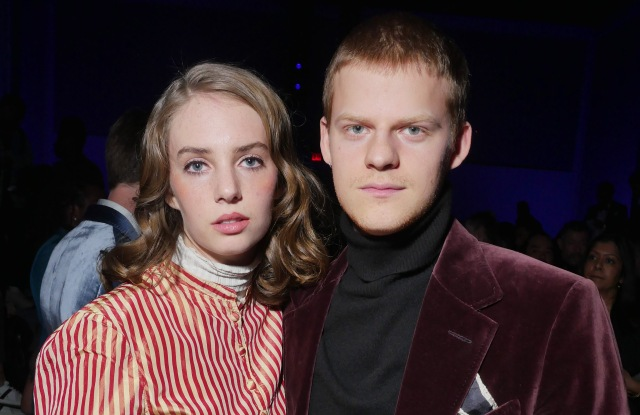 Maya Hawke and Lucas Hedges in the front rowTom Ford show, Front Row, Fall Winter 2018, New York Fashion Week Men's, USA - 06 Feb 2018