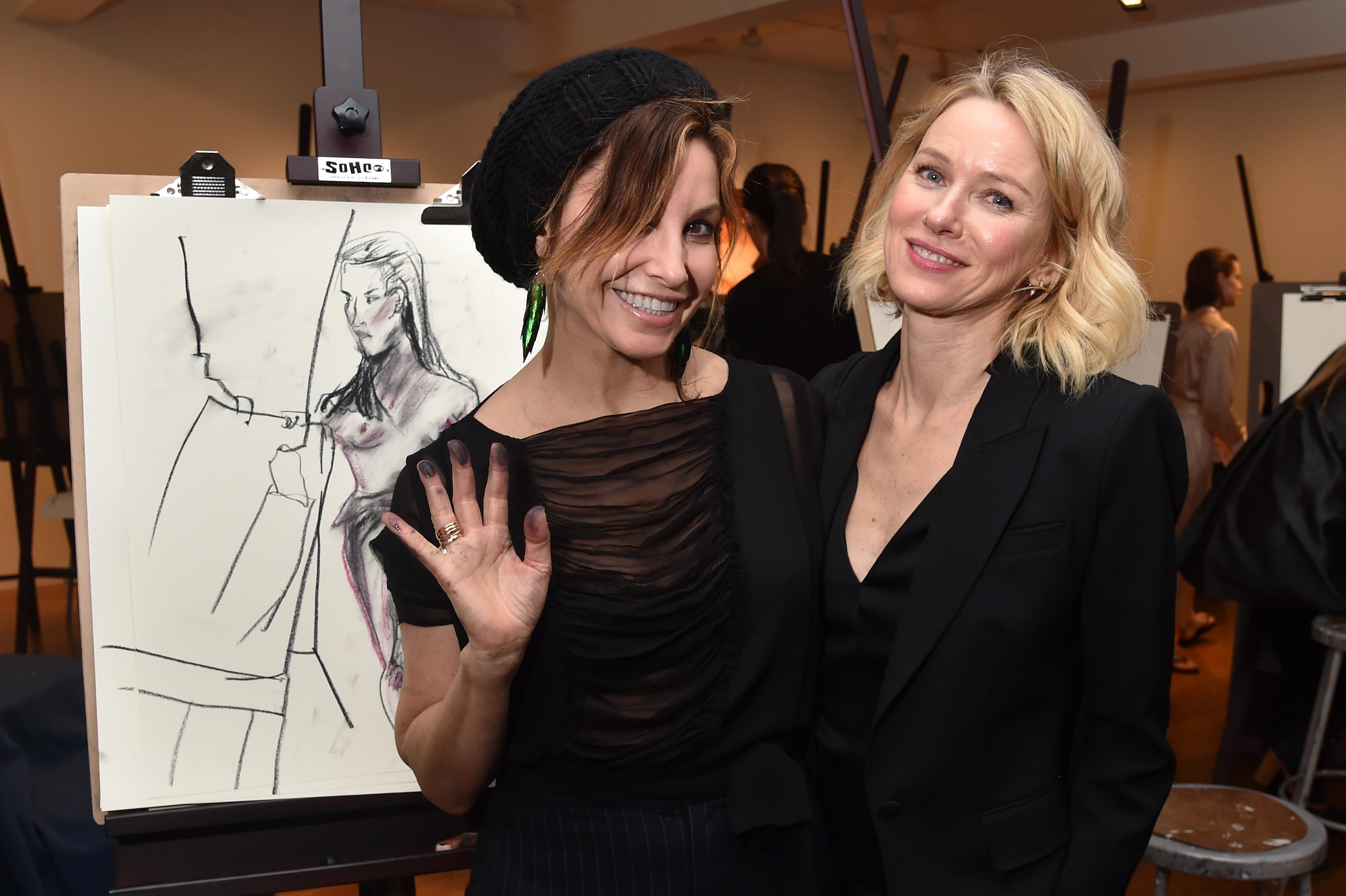 Gina Gershon and Naomi WattsNew York Academy Of Art Intimate Drawing Party, New York, USA - 06 Feb 2018