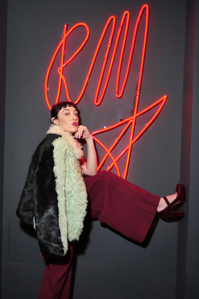 Mia MorettiRoland Mouret cocktail party, Fall Winter 2018, New York Fashion Week, USA - 07 Feb 2018