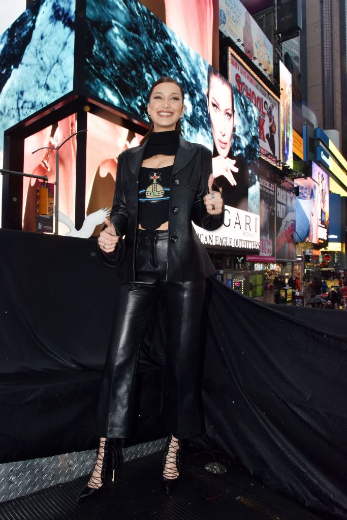 Bella HadidBulgari B.zero1 campaign unveiling, Fall Winter 2018, Times Square, New York Fashion Week, USA - 07 Feb 2018