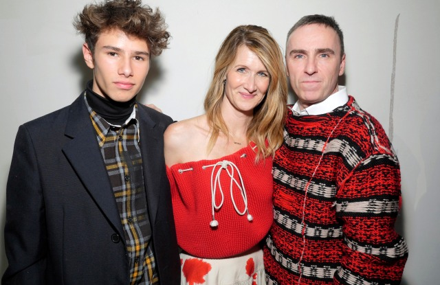Laura Dern and Ellery Harper and Raf Simons in the front rowCalvin Klein show, Backstage, Fall Winter 2018, New York Fashion Week, USA - 13 Feb 2018