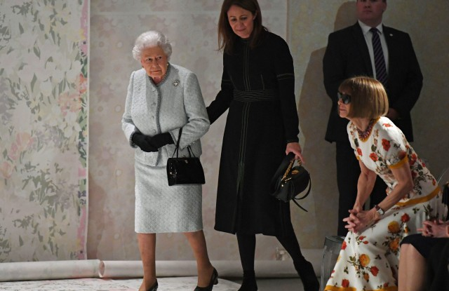 Caroline Rush, Queen Elizabeth II and Anna Wintour