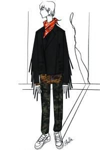 Stella McCartney designed a custom look for Justin Timberlake's Super Bowl halftime performance.
