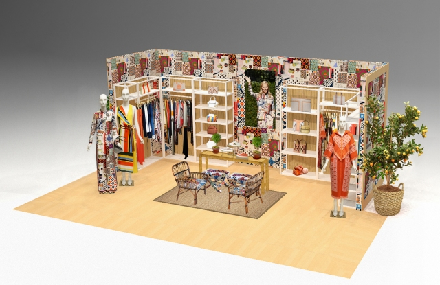 A rendering of Tory Burch's pop-in at select Nordstrom locations.