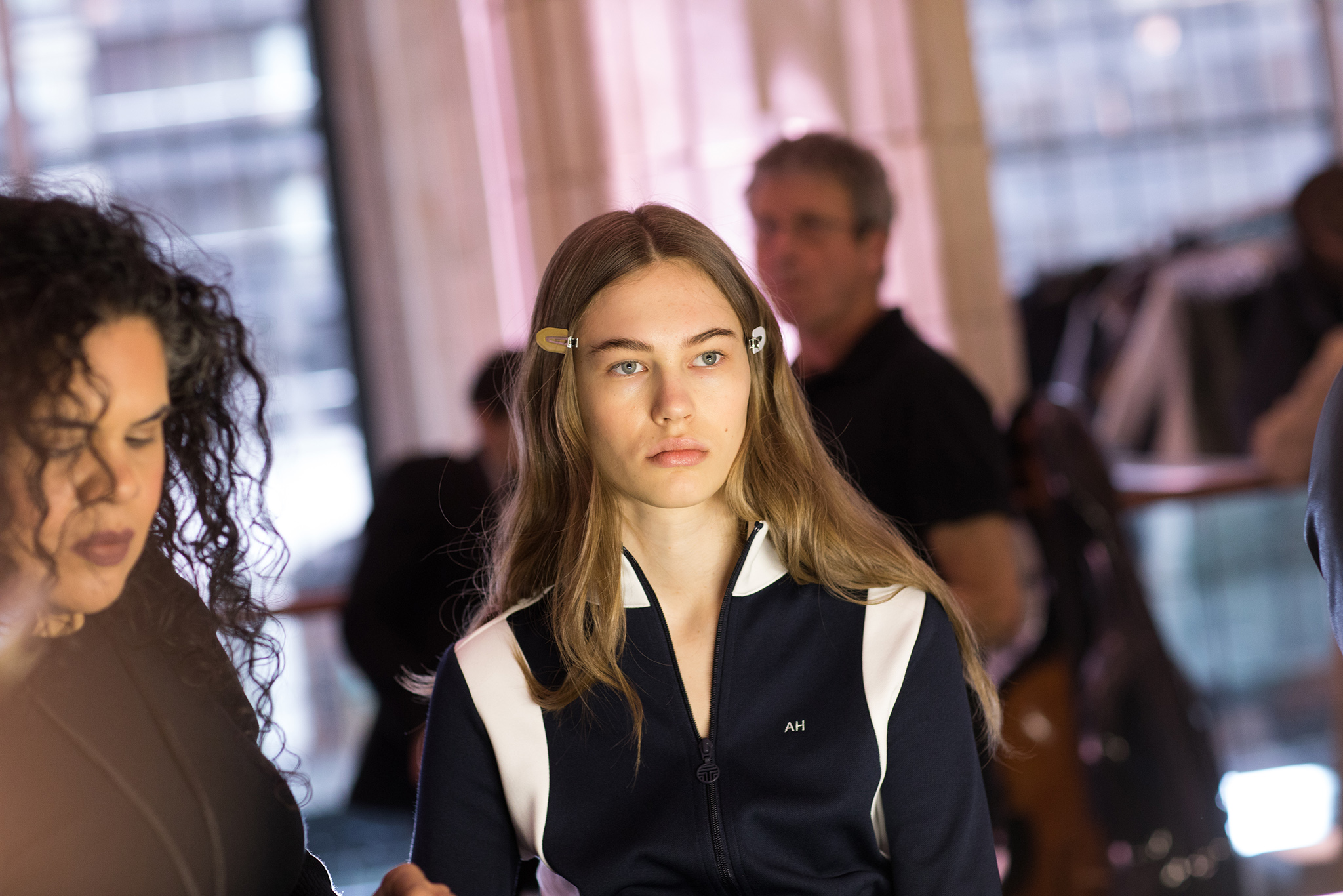 Backstage at Tory Burch RTW Fall 2018