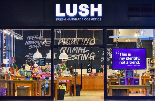 Lush Window Display for #TransRightsAreHumanRights