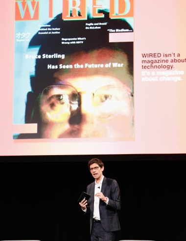 NEW YORK, NY - JUNE 07: Editor in Chief at WIRED Nicholas Thompson speaks onstage at WIRED Business Conference Presented By Visa At Spring Studios In New York City on June 7, 2017 in New York City. (Photo by Brian Ach/Getty Images for Wired)