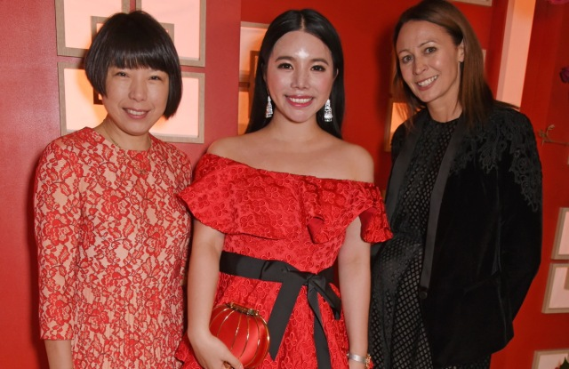 Angelica Cheung, Wendy Yu and Caroline Rush