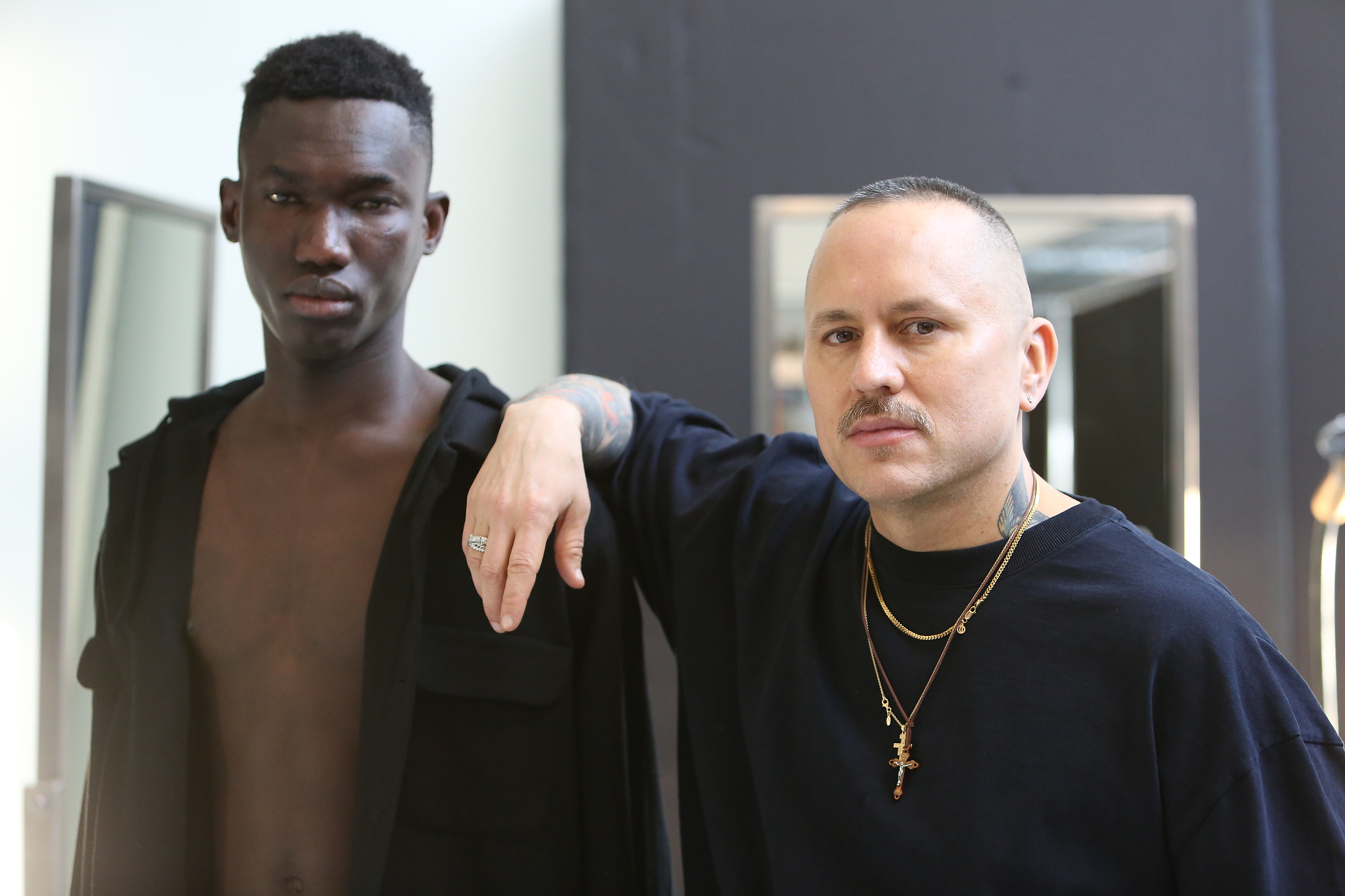 Backstage at Willy Chavarria Men's Fall 2018