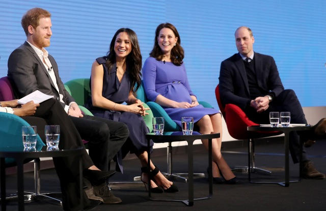 Prince Harry, Meghan Markle, Catherine Duchess of Cambridge and Prince WilliamFirst Annual Royal Foundation Forum, London, UK - 28 Feb 2018Under the theme 'Making a Difference Together', the event will showcase the programmes run or initiated by The Royal Foundation.