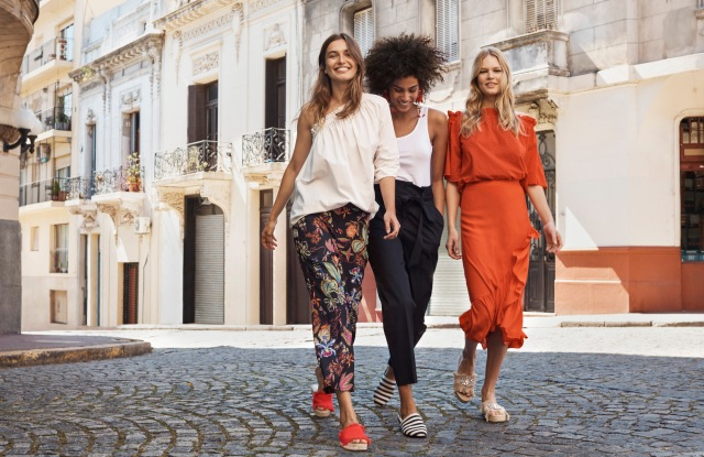H&M's spring ad campaign stars Andreea Diaconu, Anna Ewers and Imaan Hammam