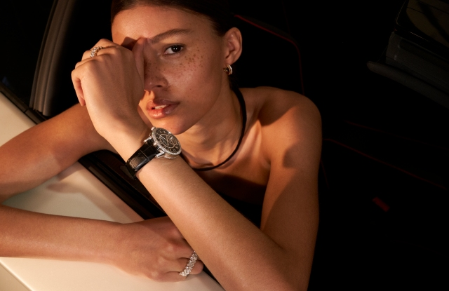 A visual from the latest Net-a-Porter fine jewelry campaign