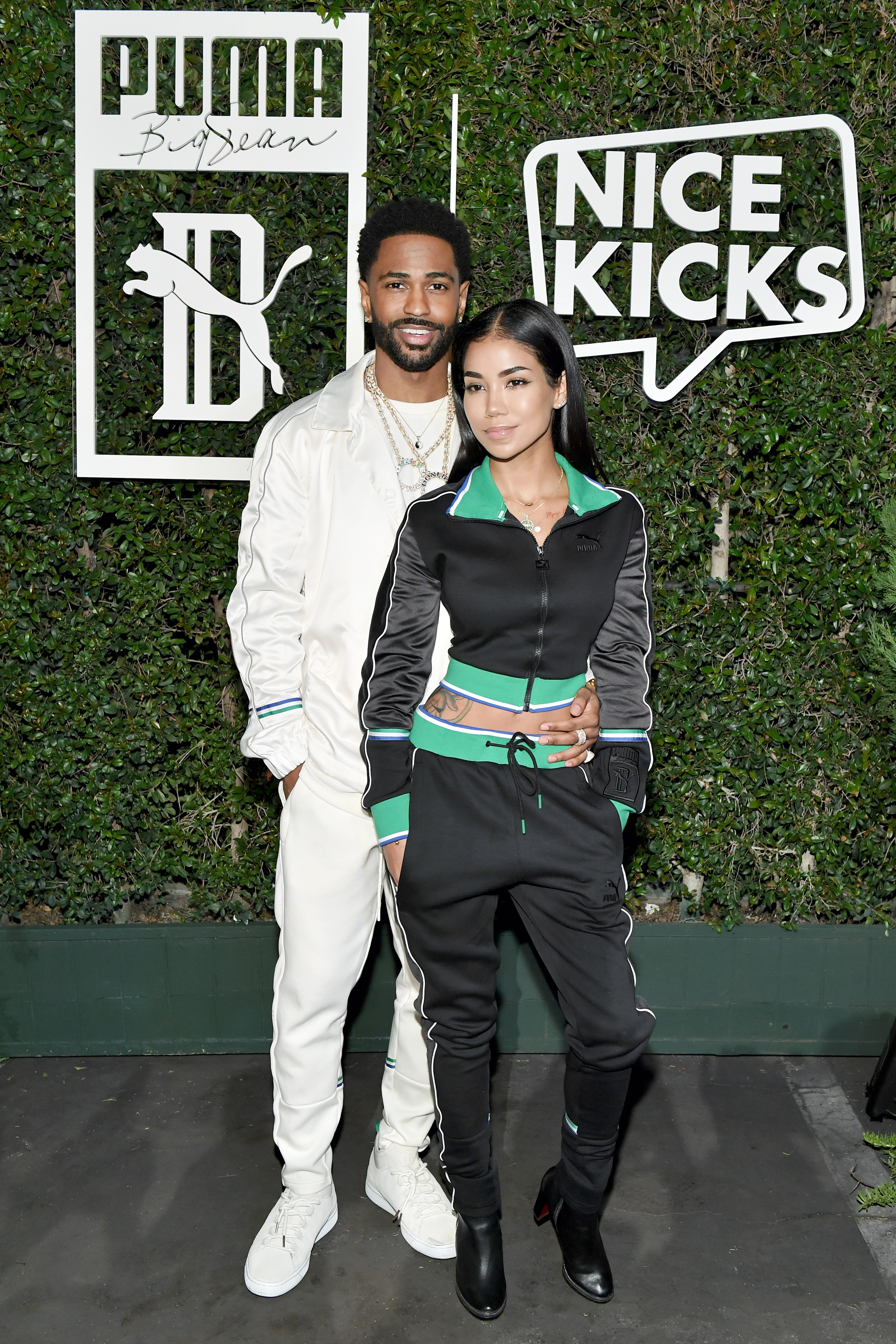 LOS ANGELES, CA - MARCH 19:  Big Sean (L) and Jhene Aiko attend PUMA x Big Sean Collection Launch Event at Goya Studios on March 19, 2018 in Los Angeles, California.  (Photo by Neilson Barnard/Getty Images for PUMA)