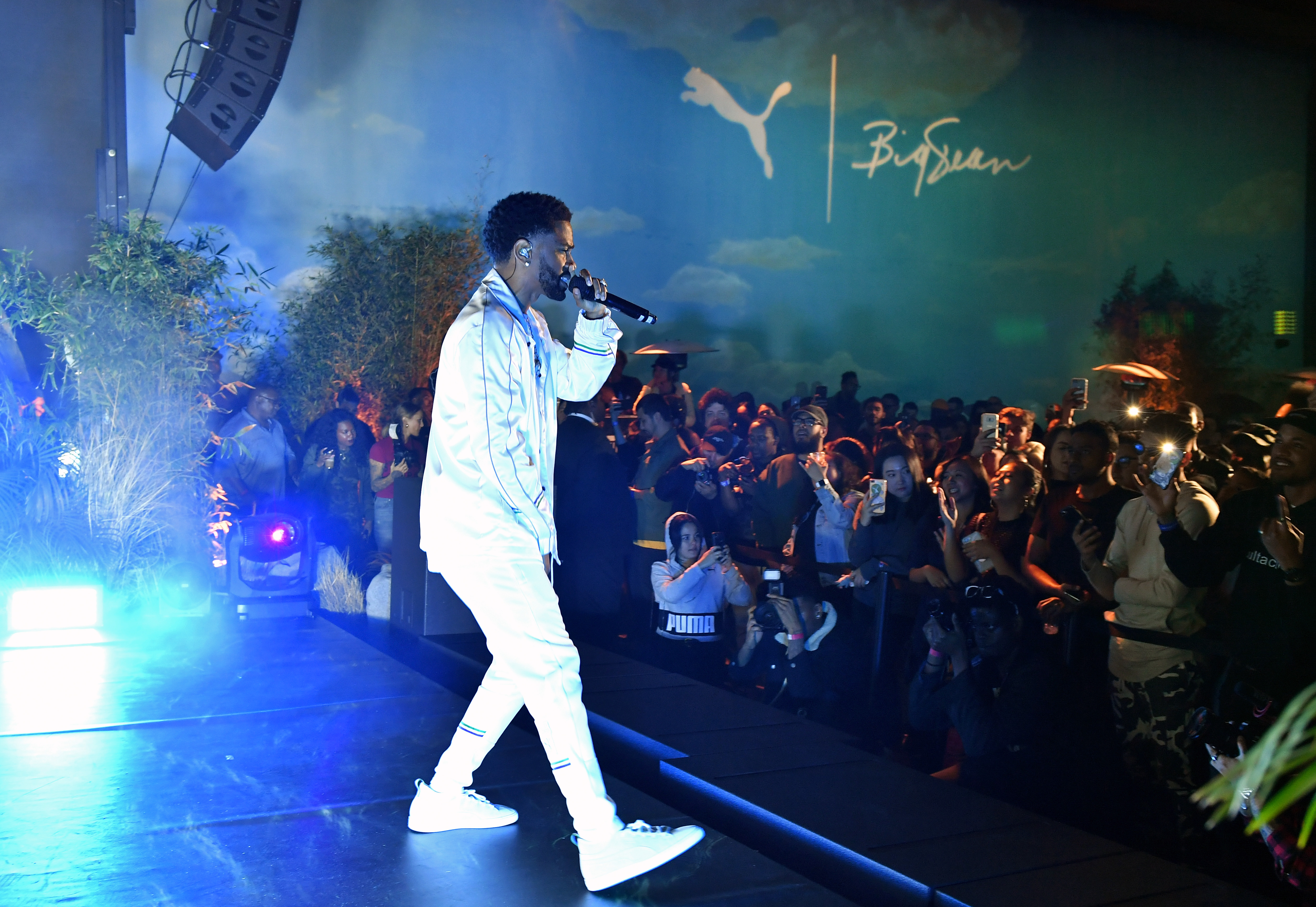 LOS ANGELES, CA - MARCH 19:  Big Sean performs onstage at PUMA x Big Sean Collection Launch Event at Goya Studios on March 19, 2018 in Los Angeles, California.  (Photo by Neilson Barnard/Getty Images for PUMA)
