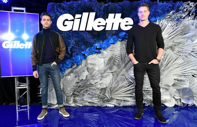 NEW YORK, NY - MARCH 20:  Gillette, guest host Justin Hartley and mens style influencer Adam Gallagher share the top grooming trends of 2018 with a declaration that one size does not fit every man when it comes to razors.  Gillette Event in NYC at Slate on March 20, 2018 in New York City.  (Photo by Dia Dipasupil/Getty Images for Gillette)