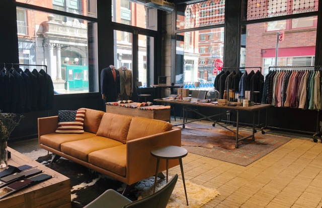 The Tribeca store is 1,800 square feet.