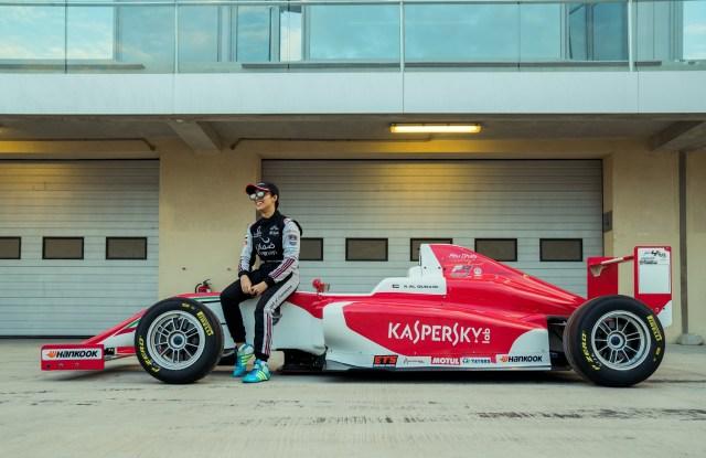 The Emirati racing driver Amna Al Qubaisi.